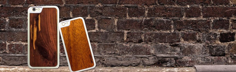 aromatic cedar and mahogany phone case for iphone and samsung galaxy on brick wall
