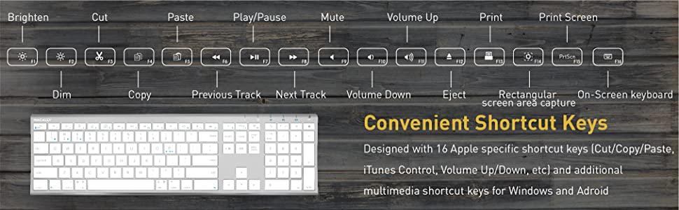 Convenient Shortcut Keys