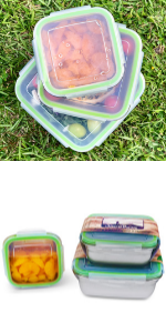 JaceBox Metal Lunch Boxes Tupperware Set Stainless Steel Stelle contenedores de comida lonchera food