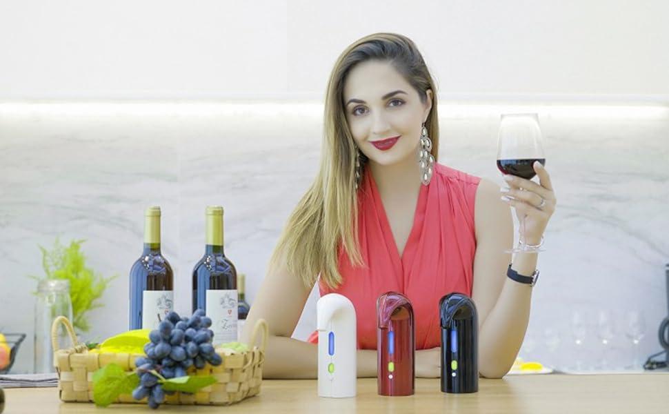 Electric Wine Aerator Decanter Pump Dispenser