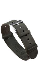 Leather NATO style Strap