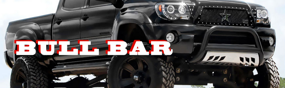 For Dodge Ram BR//BE 3 inches Black Bull Bar+6 inches Black Housing Clear Lens Fog Lights
