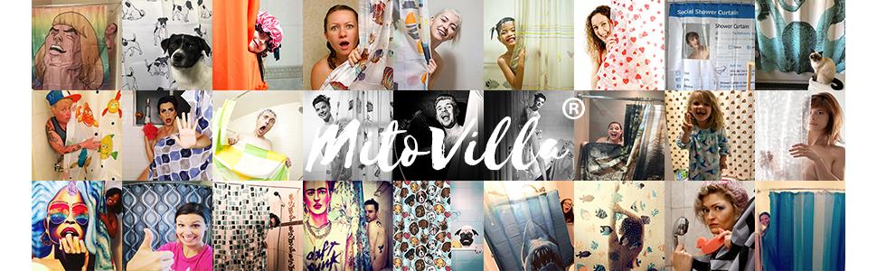 MitoVilla Shower Curtain