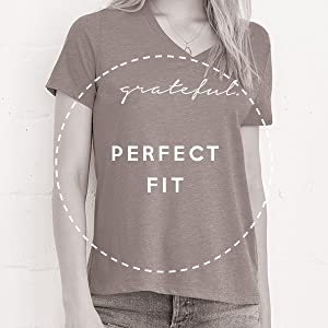 ThreadTank Relaxed Fit V-Neck Tee T-Shirt Perfect Fit