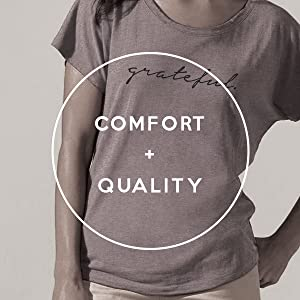 Slouchy Dolman Tee Comfort Quality