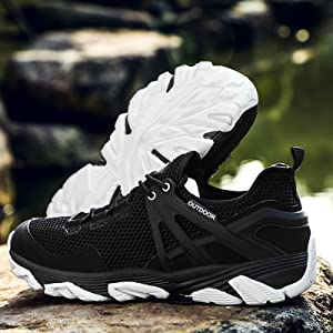 Black Trekking Shoes