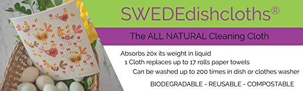 swedish dishcloth biodegradable reusable compostable