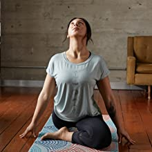 tee Gaiam shirts yoga activewear sports workout training t-shirt