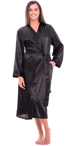 womens silky robe