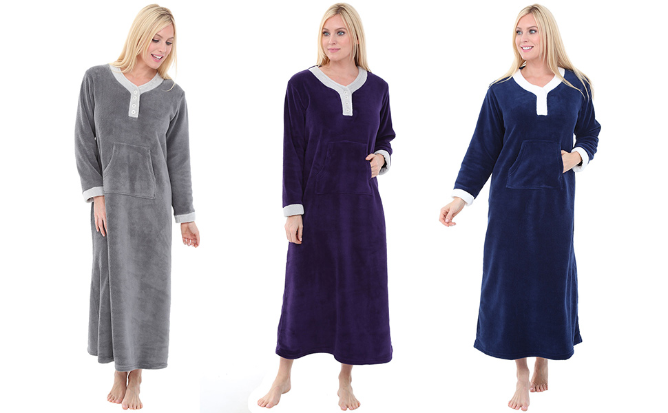 womens fleece nightgowns