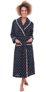womens polka dot robe
