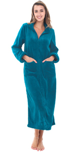 fleece zippe robe