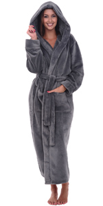 womens soft fleece robe