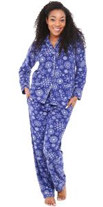 two piece fleece pajamas