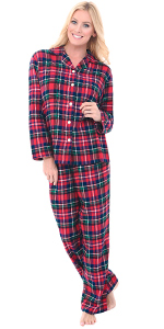womens flannel pajama set