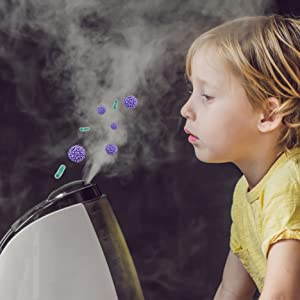kid breathing in mold spores bacteria
