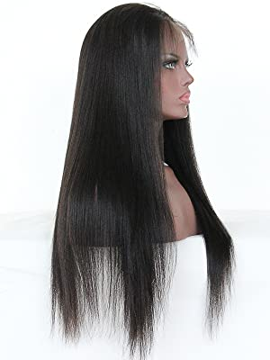 pre plucked brazilian 360 full lace human hair wigs for black women with baby hair natural hair wigs