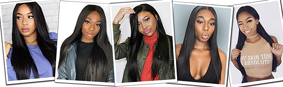yaki straight 360 lace frontal wigs
