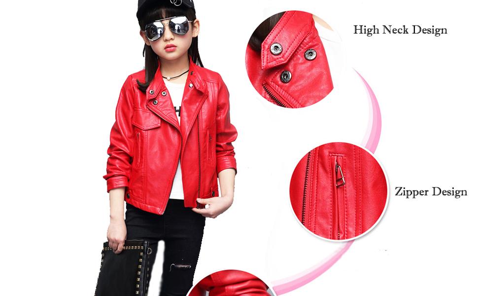 girls PU jacket