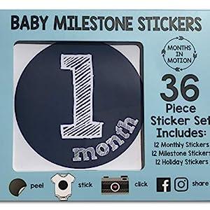 Baby Milestone Photos Months Stickers Monthly Baby Newborn Boy Months Holidays My First Christmas