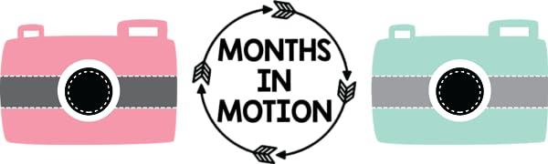 Months in Motion Baby Milestone Photo Prop Month Week Sticker Blocks Infant Shower Pregnancy Babies
