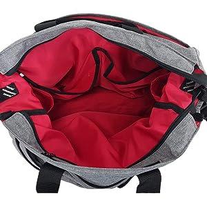 soft interior velvet lined liner pockets tech messenger bag commuting