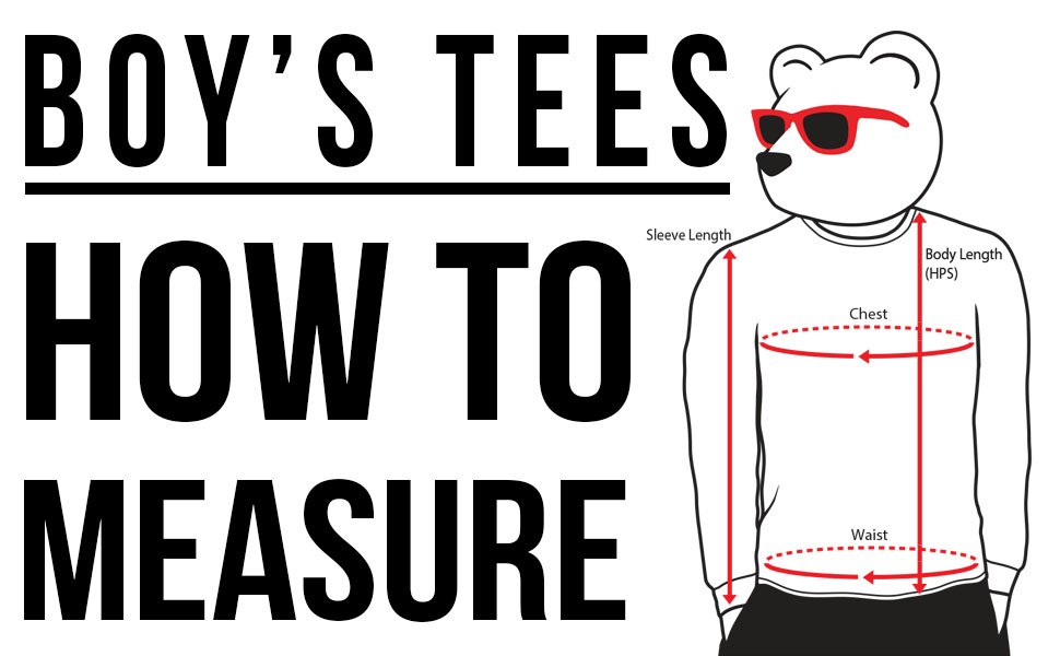 Riot Society Boys Tees how to measure