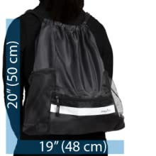 Athletico Drawstring Soccer Bag on Silhouette