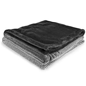 unique ombre color fade charcoal grey lightweight warm cozy all season blanket
