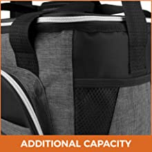 large soft cooler bag insulated lunch box thermal men women adult picnic work school kids