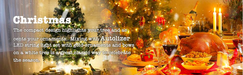 Autolizer LED Fairy Christmas Light String Holiday Decoration