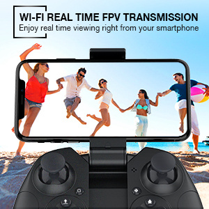 WiFi FPV Drone with 720P HD Camera, RC Drones for Beginners with Gravity Control