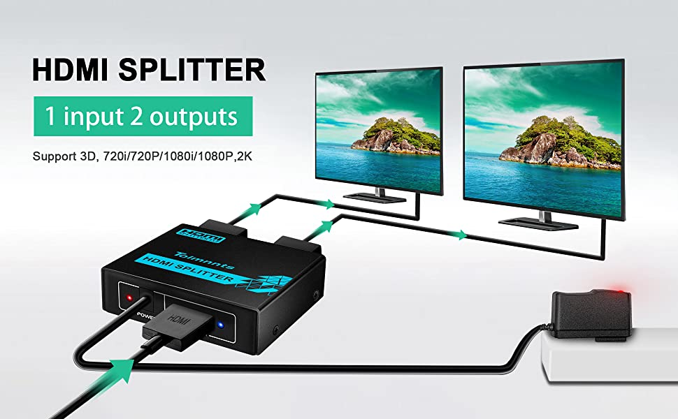 1x2 HDMI Splitter