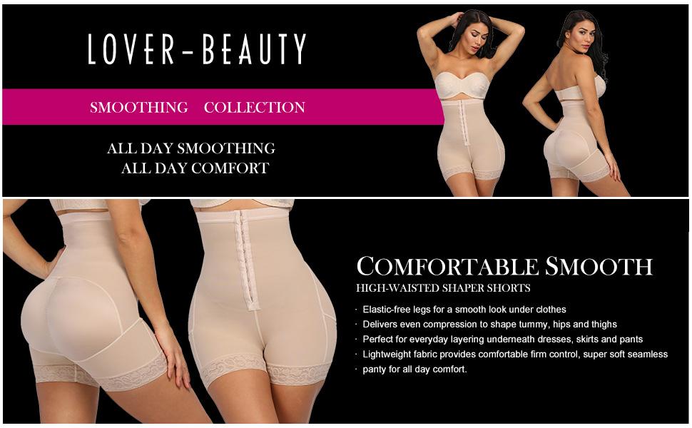 Lover-Beauty Women Shapewear High Waist Thigh Slimmer Tummy Control Body Shaper Seamless Butt Lifter