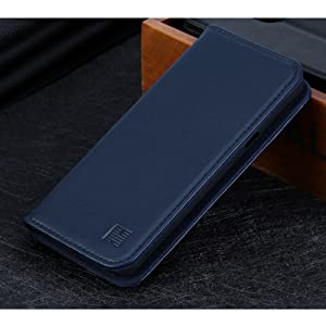 LG G7 ThinQ 'Classic Series' real leather wallet case cover available in navy blue