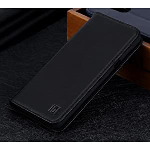 LG G7 ThinQ 'Classic Series' real leather wallet case cover available in black