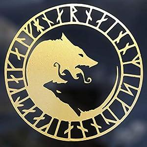 wolf viking rune Scandinavian window car bumper norse for odin mythology back