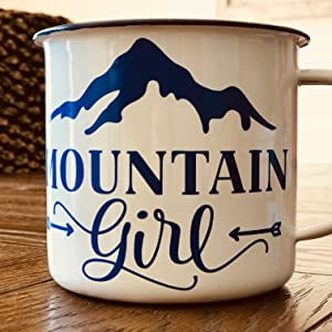 cup decal mountain girl mandala tumbler Tumblr handmade custom sticker water bottle customized truck
