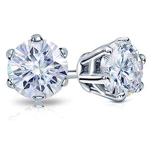 6-Prong Moissanite Stud Earrings