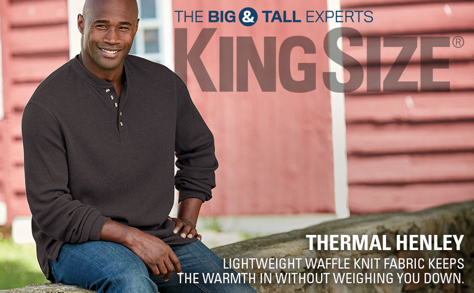 thermal henley lightweight light waffle knit fabric warm long sleeve durable