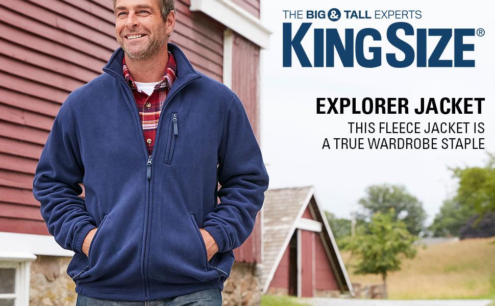 KingSize Mens Big /& Tall Fleece Pullover Hoodie