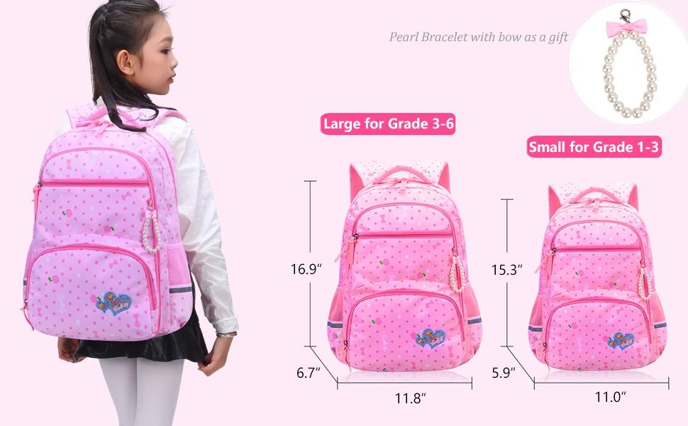 Casual Small Backpack Rucksack Lightweight Camping Bag Bookbag for Boy Girl Pink Summer