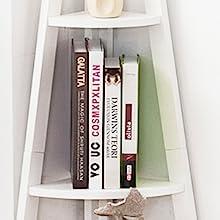 Fan-Shape Corner Shelves