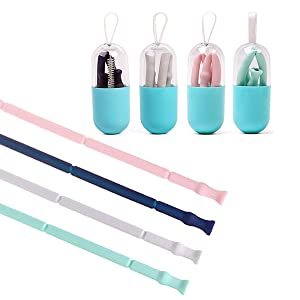 reusable straw with case