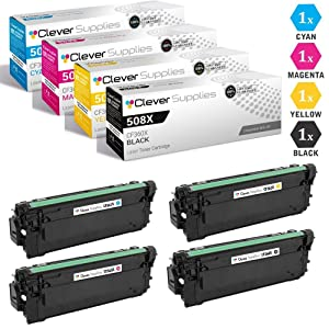 HP 508A CF360X Black CF361A Cyan CF363A Magenta CF362A Yellow HP 508X Toner Cartridge 4 Color Set
