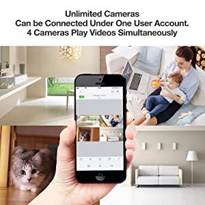 4 Live Camera Feeds