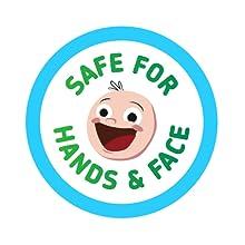 Safe for Hands & Face