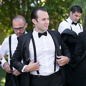 bridegroom suspenders