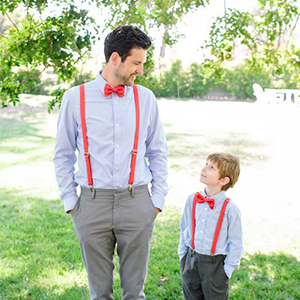 father son suspenders and bow tie