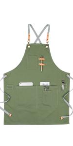 green apron